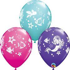Sirène fête ballons en latex qualité hélium ANNIVERSAIRE MAGIQUE POISSON DE MER