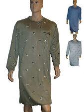 2 - er Pack Herren Nachthemd mit langem Arm und Armbündchen Gr. M