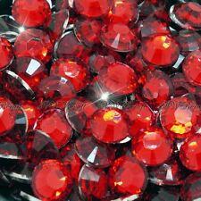 Deep Red 1000pcs Resin RhinestonesBeads Flat Back Diamante Nail Art Craft Gems