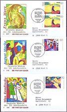 BRD 1992: Gemälde! FDC Nr. 1617-1619 mit Bonner Sonderstempeln! Gelaufen! 1701