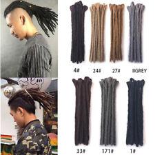 "Short 12"" Jamaica Men's Dreadlocks Hair Extensions Handmade Reggae Dreads Locs"