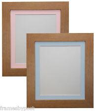 METRO in rovere immagine Foto Telaio con blu o rosa Senza Acidi Mount qualità legno MDF