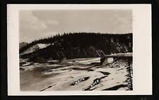 Dawson Creek BC Canada 1957 RPPC White River Bridge
