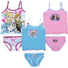 Unterwäsche 2tlg Set Mädchen Hemd Slip Disney Frozen 92-98 104-110 116-122 #86