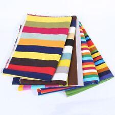 Rainbow Multi Stripe Fabric Cotton Craft Curtain Upholstery Material 1X1.5M DIY