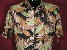 Hawaiian Shirt New Men's Short Sleeve Button Up Black Tan Green