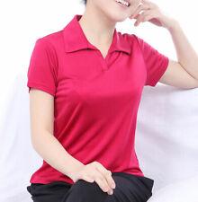 Pure Silk Knit Women Polo T Shirt Short Sleeves Summer T-Shirt Tee Blouse Tops