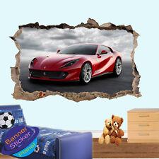 Veloce auto sportiva rossa Ferrari Adesivi Da Parete ARTE Decalcomanie Murale Stanza Ufficio Decor VP9