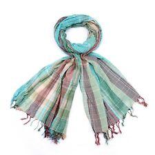 styleBREAKER rayures colorées modèle de foulard à carreaux avec une frange