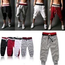 Mens 3/4 Knee High Harem Jogging Pants Loose Casual Slacks Sport Shorts Trousers