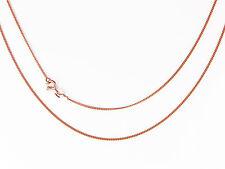 9 carati Oro Rosa Catena Cordolo 16 18 20INCH marchiato / & Orecchino Stud combi-saver