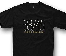 Vinyl Master t-shirt DJ gift deejay technics turntable 33/45 music tshirt