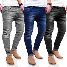 BEHYPE Jeans Herren Röhrenjeans Chino Destroyed Hose Schwarz/Blau/Grau NEU