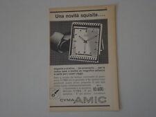 advertising Pubblicità 1953 OROLOGIO CYMA AMIC
