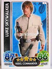 Star Wars Force Attax-Il risveglio del potere-Common scheda scegliere a #001-030