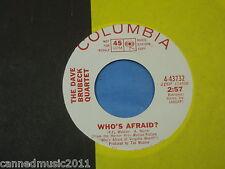 Dave Brubeck Quartet: Who's Afraid / Three to Get Ready [Promo; New, Unplayed]