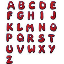 Parche Termoadhesivos Alfabeto/Letra roja