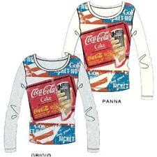 Maglia Maniche Lunghe Donna Coca - Cola Ufficiale Coke *23100