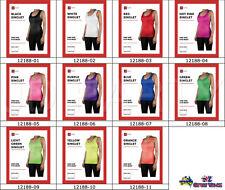Women's Workout Singlet One Size Fits Most Sport Gym Aerobic Plain Colour 12188