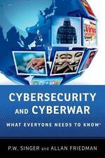 Cybersecurity and Cyberwar (Paperback or Softback)