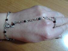 baciamano gioiello rosario religioso cristalli nero   bacia mano bracciale