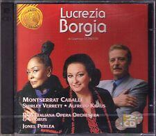 DONIZETTI Lucrezia Borgia CABALLE Alfredo KRAUS VERRETT 2CD Perlea Flagello NEU