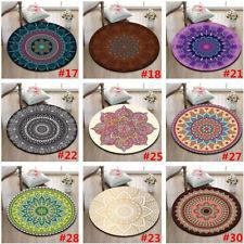 9 Type BOHO Mandala Flowers Round Carpet Floor Rug Non-Slip Room Bath Door Mat