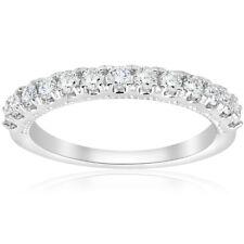 1/2ct U Prong Diamond Milgrain Wedding Ring Stackable Deco Band 14k White Gold