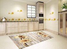 3D Boards Flowers Kitchen Mat Floor Murals Wall Print Wall Deco AJ WALLPAPER AU