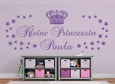 Kleine Prinzessin +Name / 2 Größen Kinderzimmer Mädchen Wandaufkleber WandTattoo