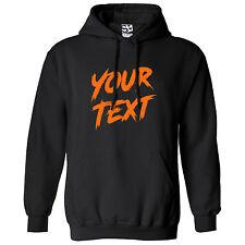 Custom Rage HOODIE - Personalize Horror Brush Paint Text Font Hooded Sweatshirt