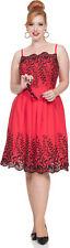 Voodoo Vixen scarlett vintage floral Straps retro dress pin up vestido rockabilly