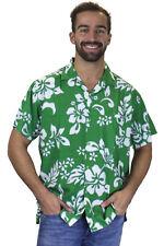 Funky Chemise Hawaïenne Hibiscus Vert