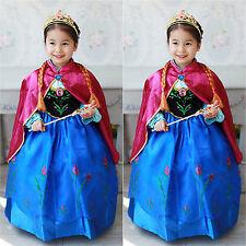 Niño Disfraz Niña Princesa Frozen Reina Elsa Anna Cosplay de fiesta vestido