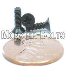 2.5mm (M2.5) - DIN 965 Phillips FLAT HEAD Machine Screw Steel w/ Black Ox Type H