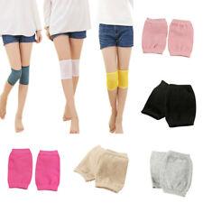 KF_ Women Thermal Knee Sleeve Knee Brace Pad Plain Leg Warmer Protector Cheap