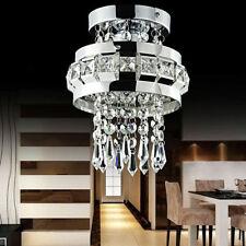 Modern Crystal LED Ceiling Lights Fitting Bedroom Lamp Fixture Chandelier H