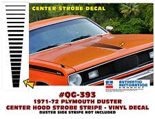 1970-1972 Duster Hood Ladder Strobe Stripes