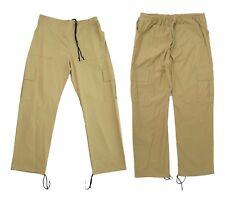 Donna Nuovi Pantaloni Cargo Elastico in vita regolabile con coulisse Sabbia Colore 10-16