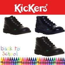KICKERS KICK HI garçons de retour à l'école filles bottes tailles uk 3 4 5 6 Junior Enfants