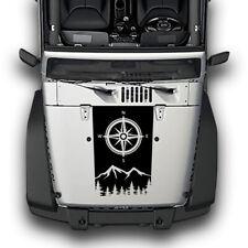 Compass Sticker Decal For Jeep Wrangler Mirror hood scoop Light 2007 - 2019 jk