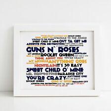 Guns N' Roses Poster, Appetite for Destruction, Framed Original Art, Album Print