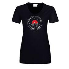 Abenteuer Damen T-Shirt Mountain Adventure Berge Urlaub Wandern Natur