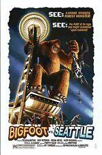 Bigfoot vs. Seattle, Washington, Space Needle, Helicopter etc. - Modern Postcard