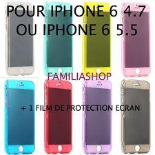 Housse étui pochette coque gel silicone à rabat iphone 6 4.7 5.5 Plus + 1 film