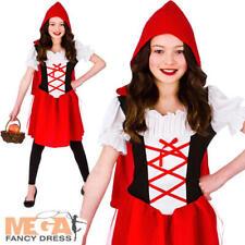 Little Red Riding Hood Girls Fancy Dress Fairytale Kids Book Week Childs Costume