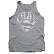 Superman Man Of Steel Shield Dc Comics Adult Tank Top