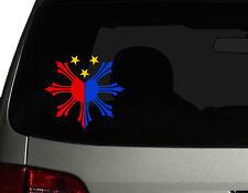 "Filipino Vinyl Car Decal Sticker 4.5""(W) Create No.2 Philippine Flag 3 colors RL"