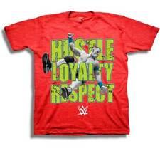 John Cena Youth Boys T-Shirt WWE Red Heather HUSTLE LOYALTY RESPECT