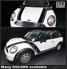 Mini Cooper 2008-2014 Clubman Hood & Side Rocker Stripes Decals (Choose Color)
